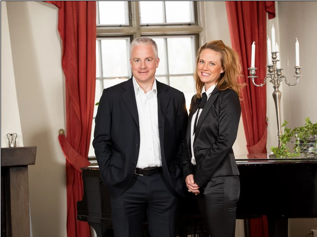 Marcus Holmberg and Therese Paulmarken